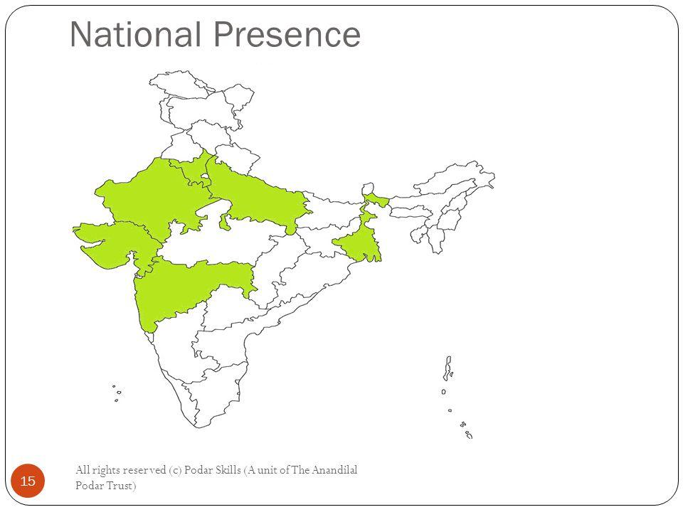 National Presence All rights reserved (c) Podar Skills (A unit of The Anandilal Podar Trust) 15