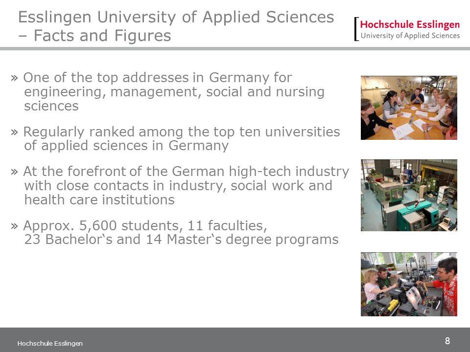 8 Hochschule Esslingen Esslingen University of Applied Sciences – Facts and Figures » One of the top addresses in Germany for engineering, management,