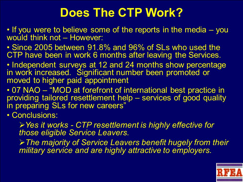 Does The CTP Work.