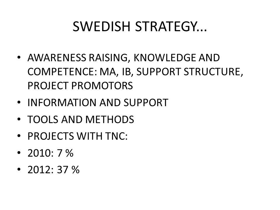SWEDISH STRATEGY...
