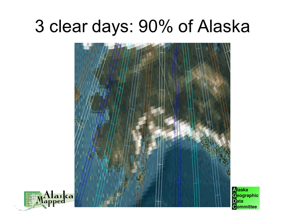 3 clear days: 90% of Alaska