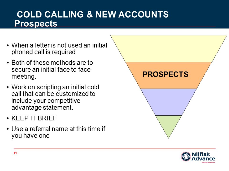 11 When a letter is not used an initial phoned call is required Both of these methods are to secure an initial face to face meeting.