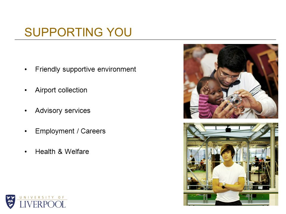 SUPPORTING YOU Friendly supportive environment Airport collection Advisory services Employment / Careers Health & Welfare