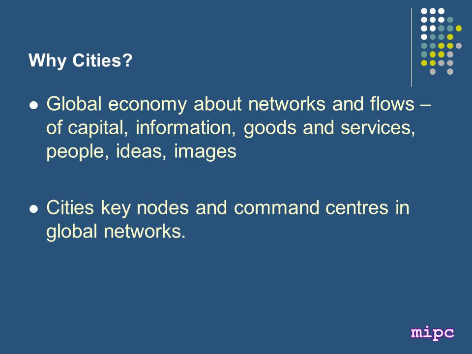 Why Cities.