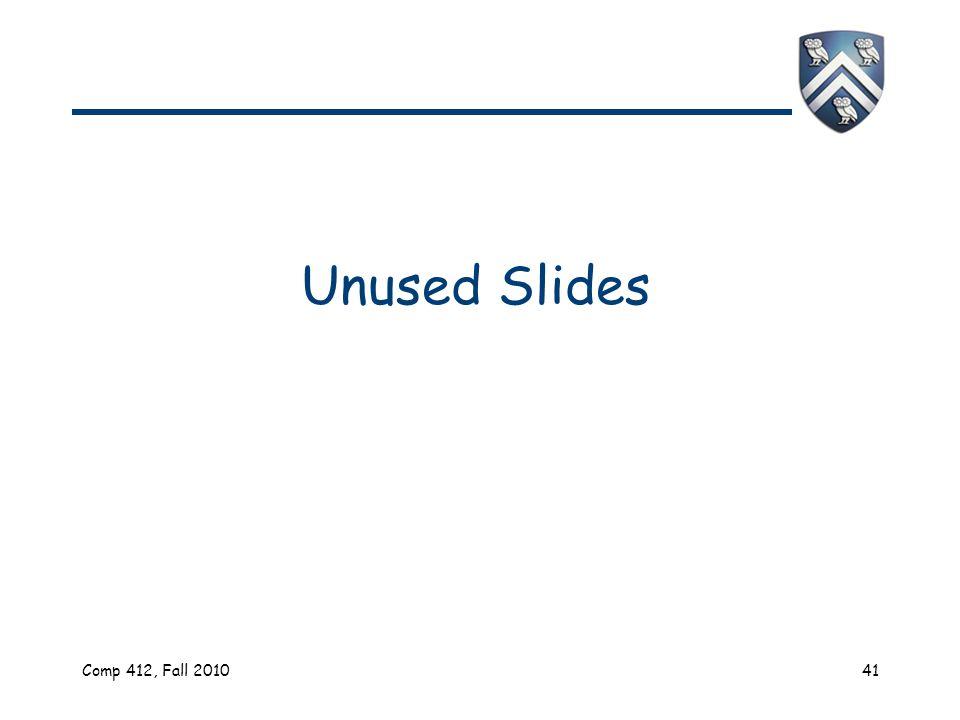 Comp 412, Fall 201041 Unused Slides