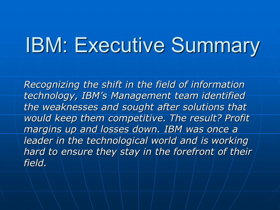 IBM: Balance Sheet While assets and liabilities decreased, stockholders equity increased.