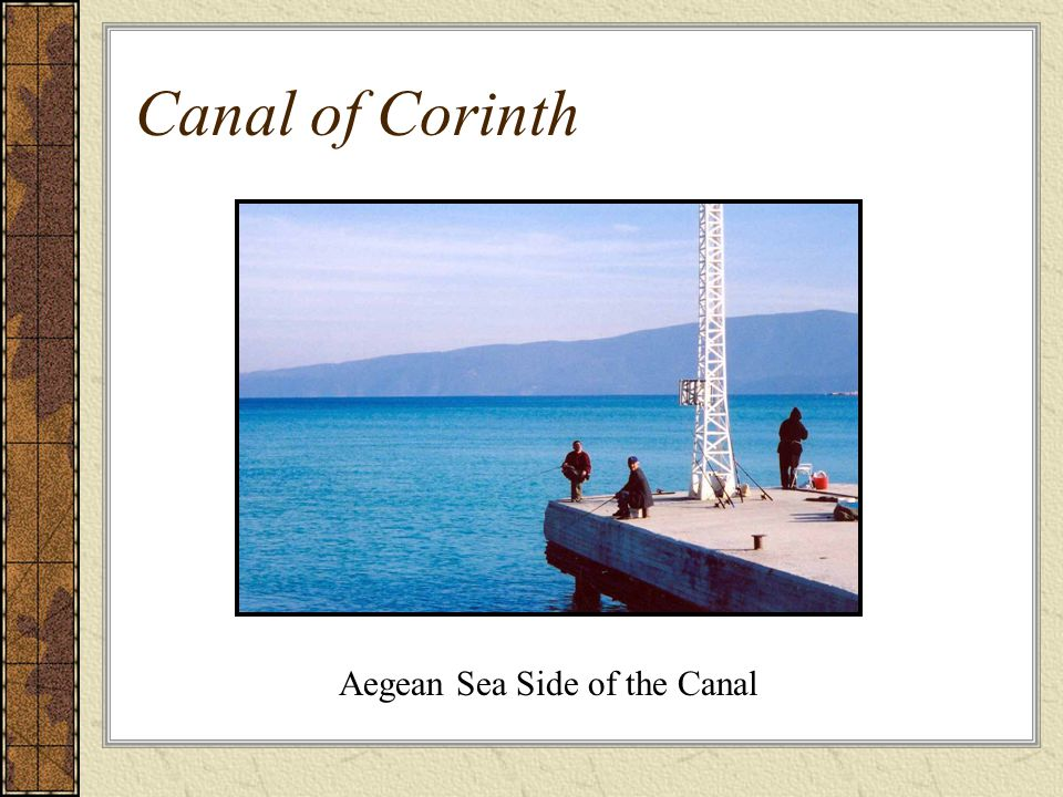 Canal of Corinth Aegean Sea Side of the Canal