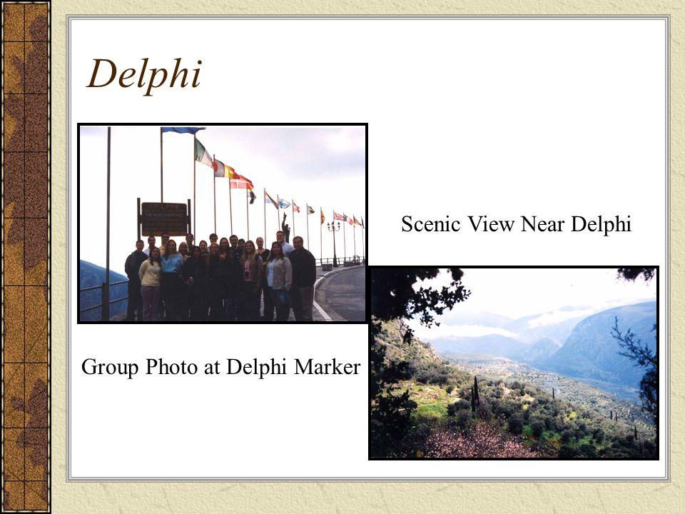 Scenic View Near Delphi Group Photo at Delphi Marker