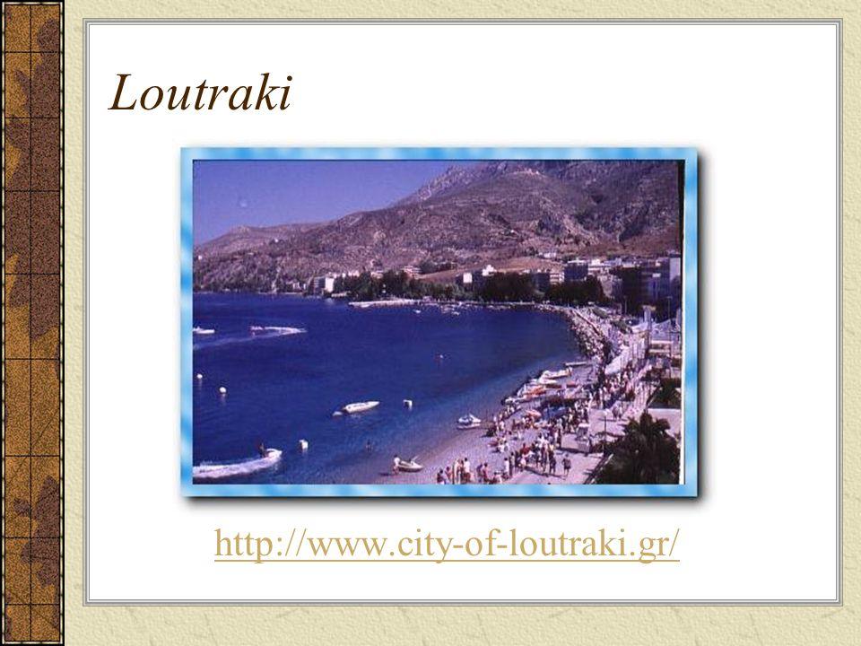 Loutraki Highlights Beaches Access to several sightseeing day excursions Blue Lake Heraion Loutraki is the seat of the municipality Loutraki-Perachora.
