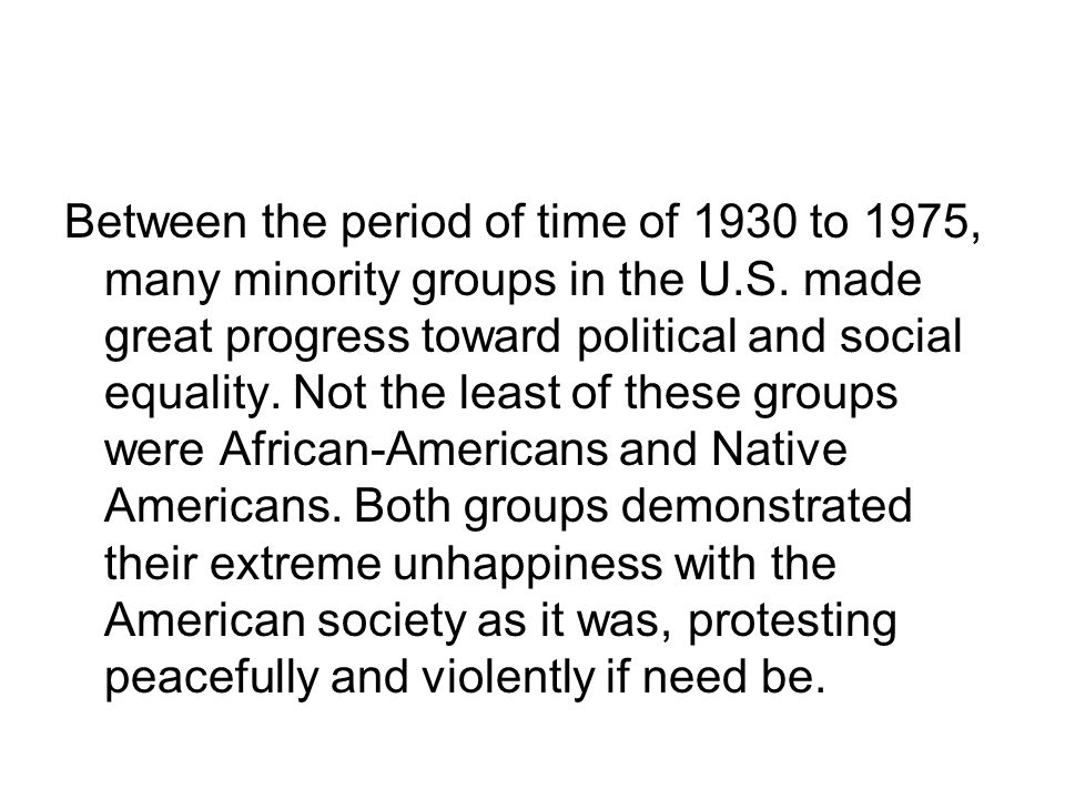 Fair and unfair are words that could be spoken about the years from 1960 to 1975.