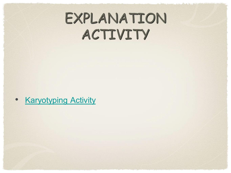 EXPLANATION ACTIVITY Karyotyping Activity