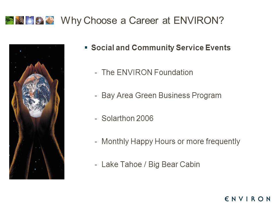 Why Choose a Career at ENVIRON.