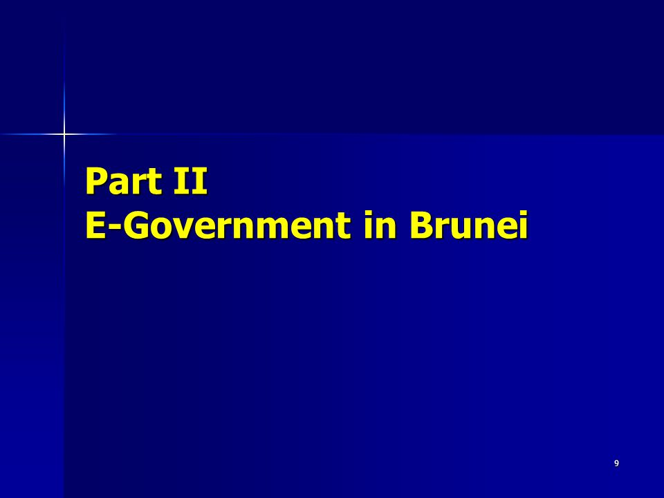 9 Part II E-Government in Brunei
