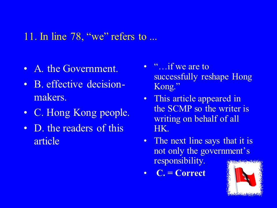 10. The machinery of Government (lines 71-72) refers to...