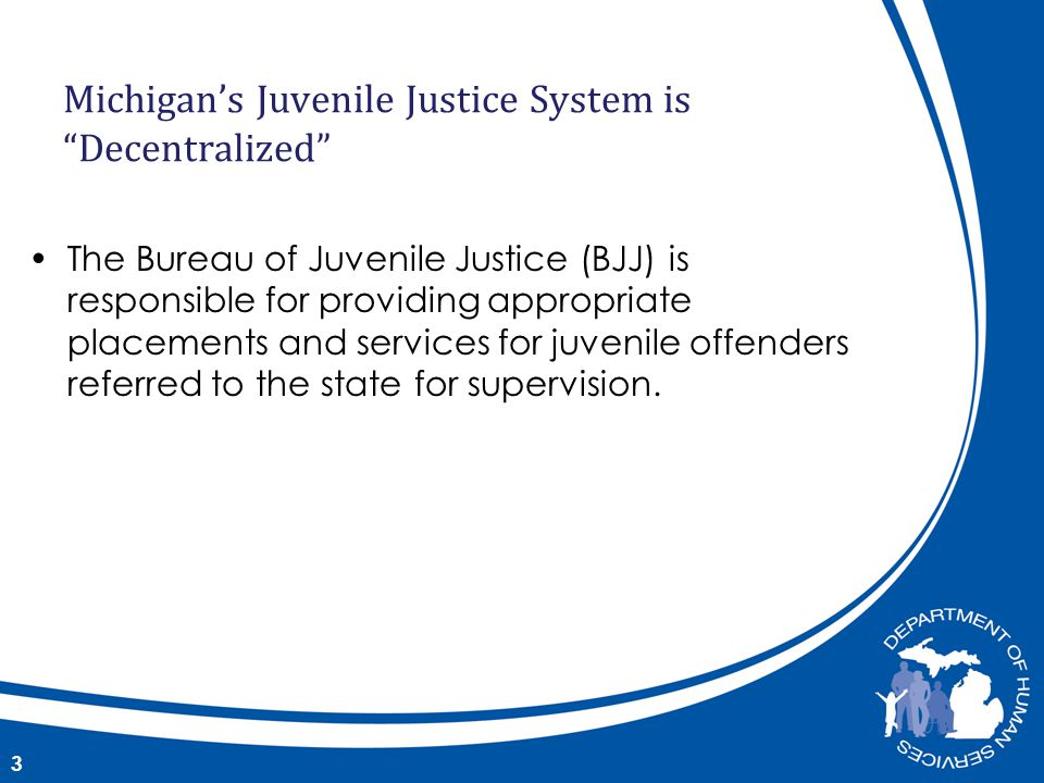 The Bureau of Juvenile Justice (BJJ) is responsible for providing appropriate placements and services for juvenile offenders referred to the state for