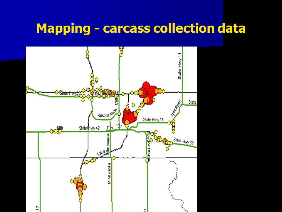 Mapping - carcass collection data