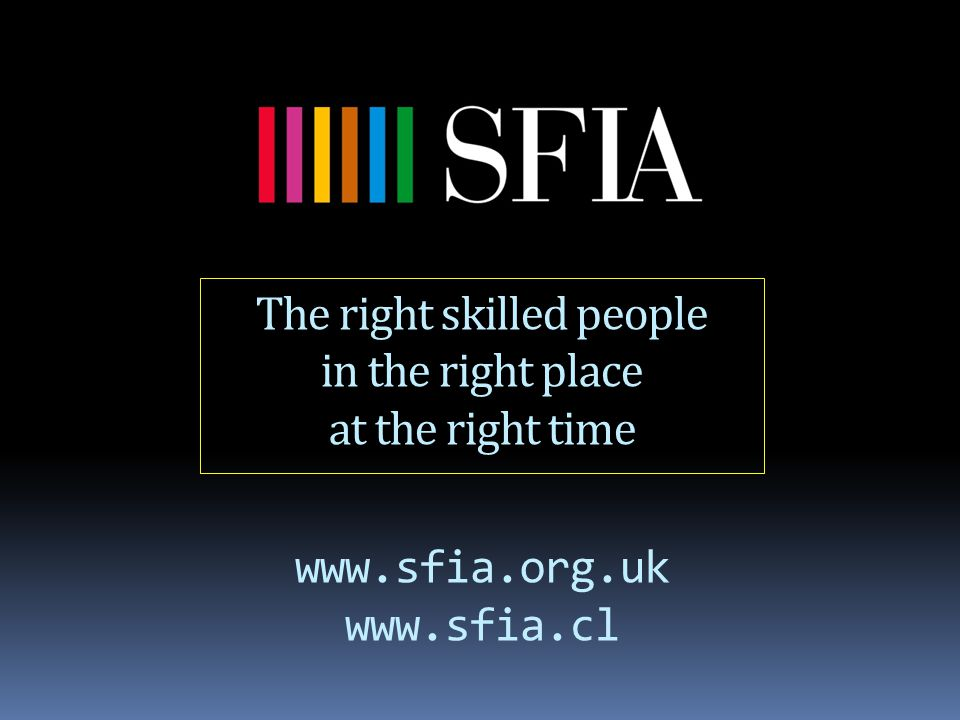 www.sfia.org.uk www.sfia.cl The right skilled people in the right place at the right time