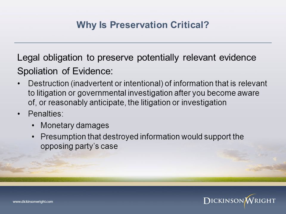 Why Is Preservation Critical.