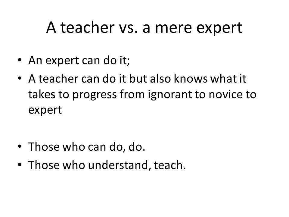 A teacher vs.