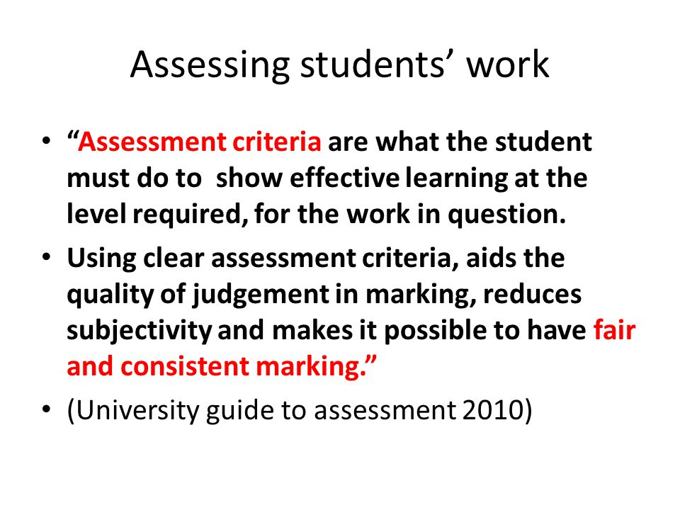 18 Feedback to students The Seven Feedback Principles 1.Helps clarify what good performance is (goals, standards, criteria) 2.Helps development of self-assessment in learning 3.Delivers high quality information to students about their learning 4.Encourages teacher and peer dialogue around learning.