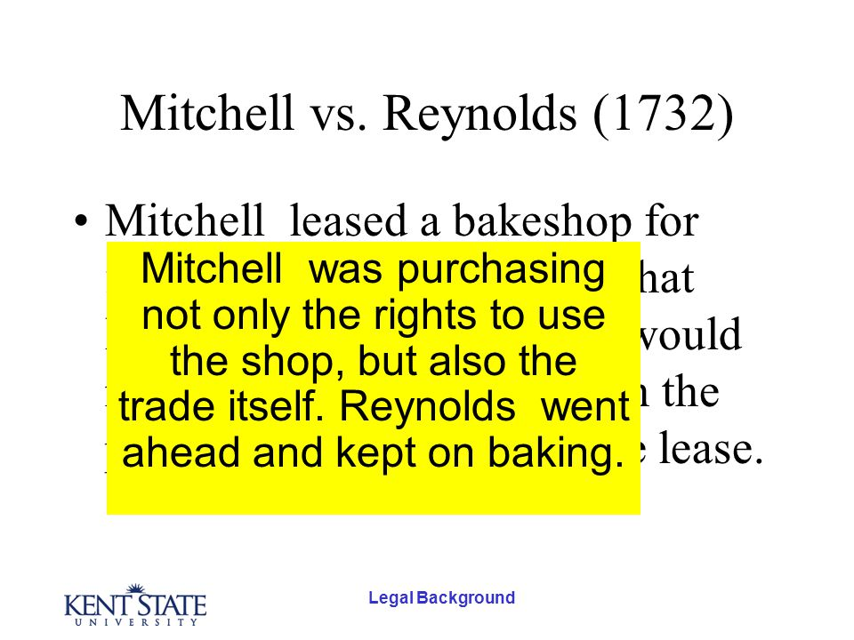 Legal Background Mitchell vs.