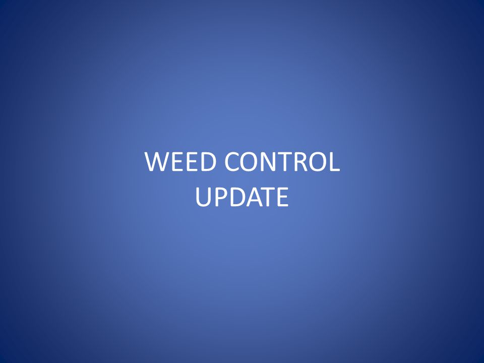 WEED CONTROL UPDATE