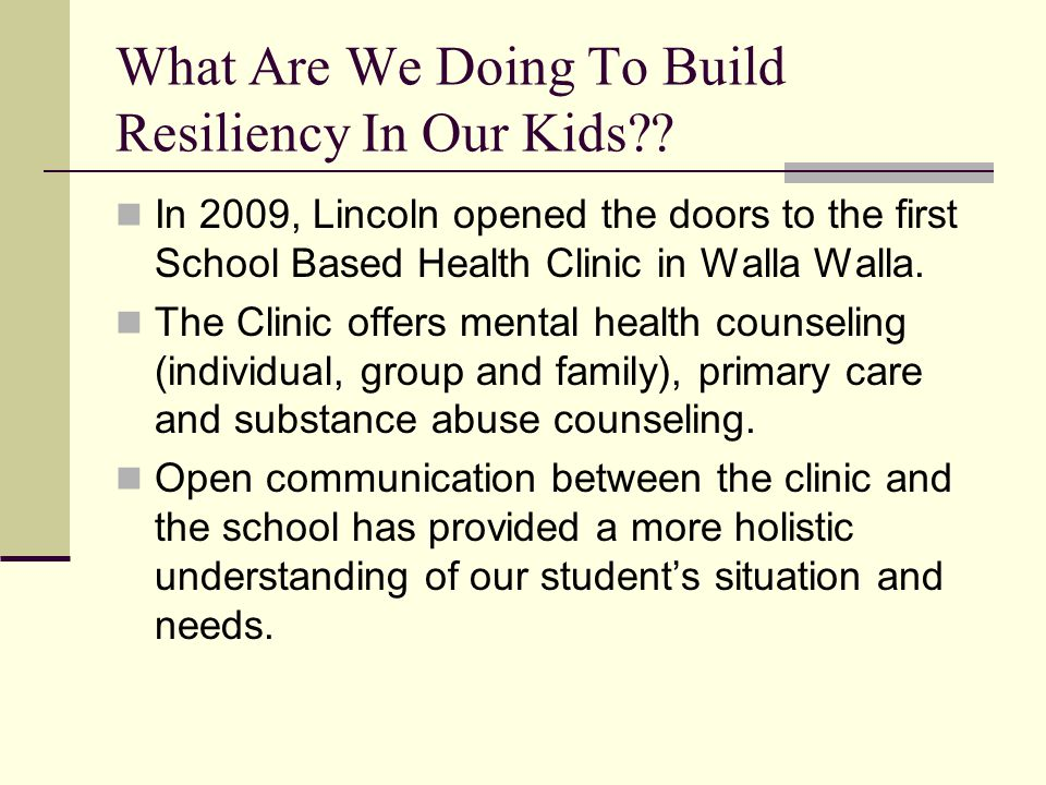 What Are We Doing To Build Resiliency In Our Kids .