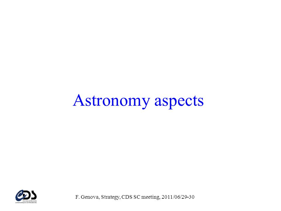 Astronomy aspects