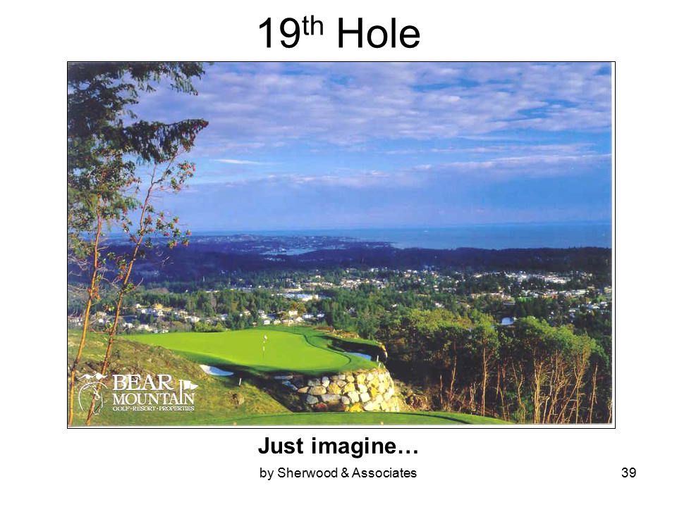 by Sherwood & Associates39 19 th Hole Just imagine…