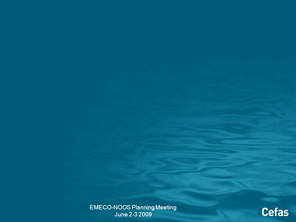 EMECO-NOOS Planning Meeting June 2-3 2009