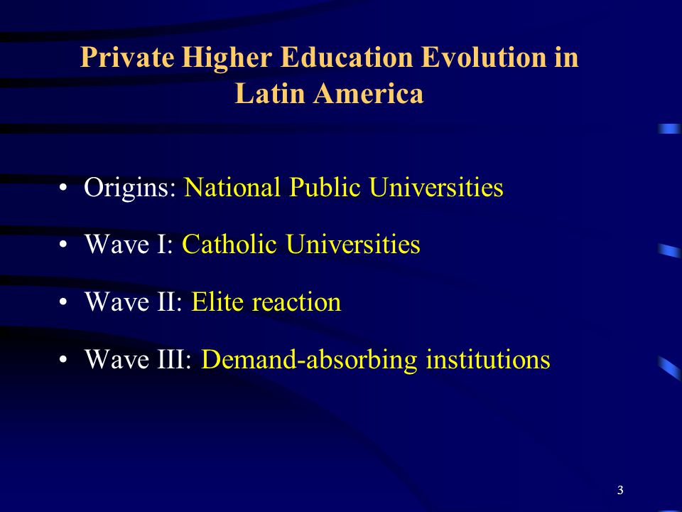 2 At the Crossroads of Trends Private Higher Education Growth in Latin America.