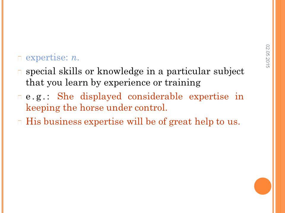 02.05.2015 expertise: n.