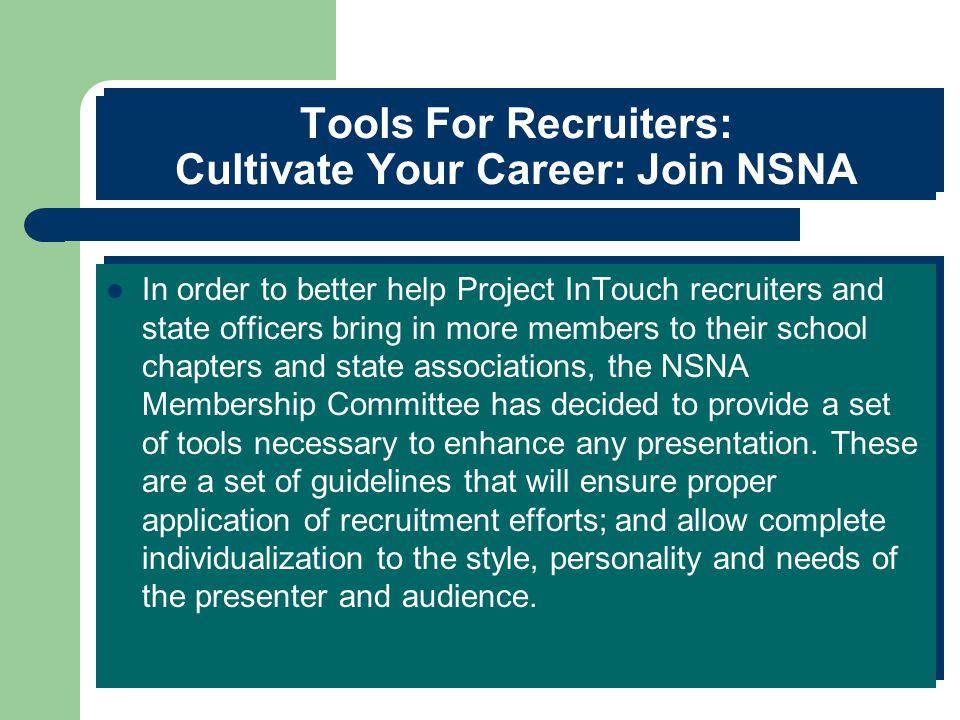 Recruiter Tools- Making the Sale  Presentation. Invitation.