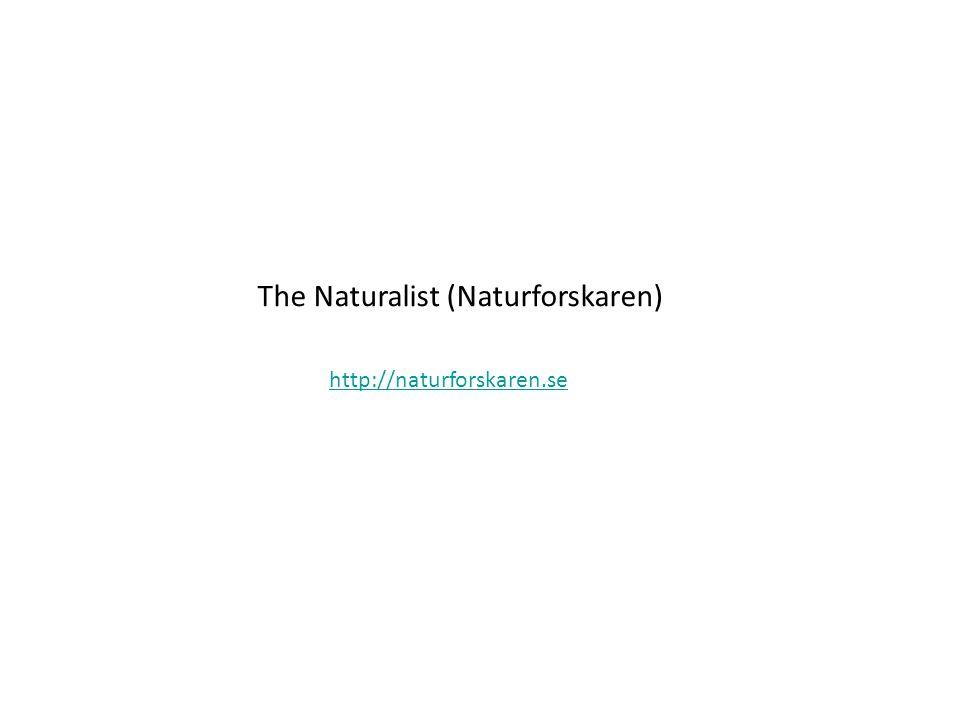 The Naturalist (Naturforskaren) http://naturforskaren.se