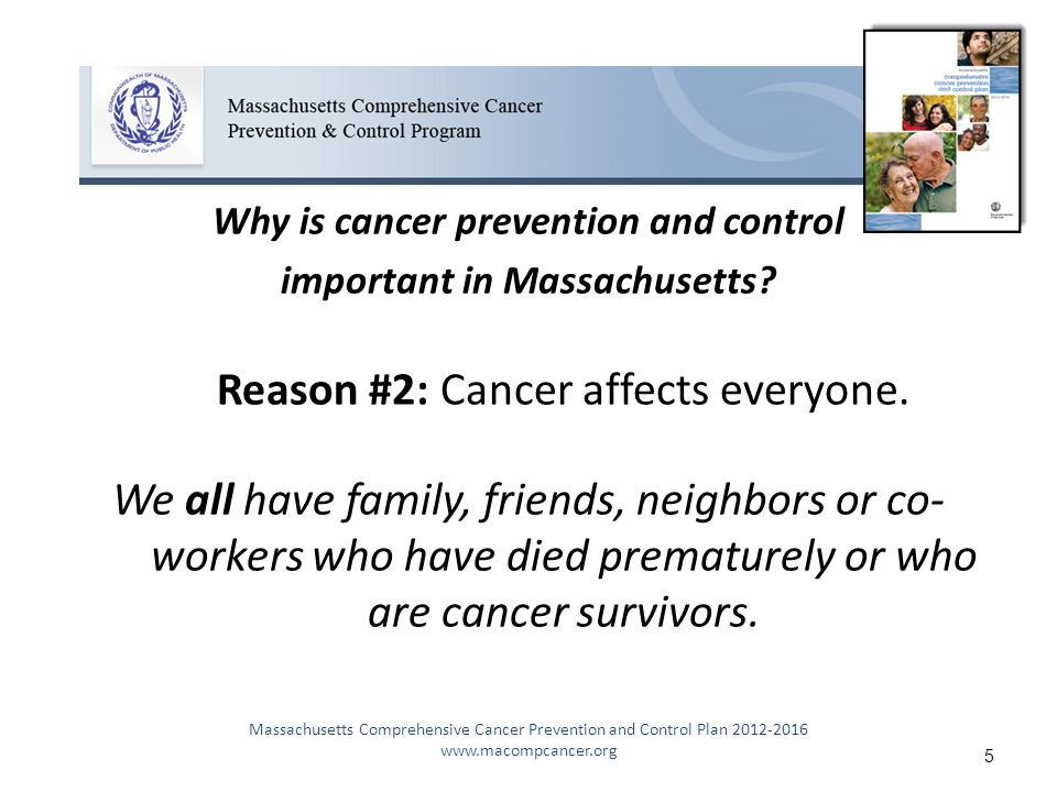 Why is cancer prevention and control important in Massachusetts.