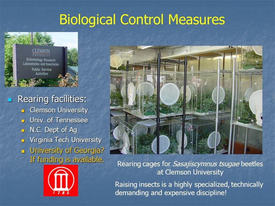 Rearing facilities: Rearing facilities: Clemson University Clemson University Univ.