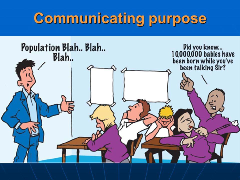Communicating purpose