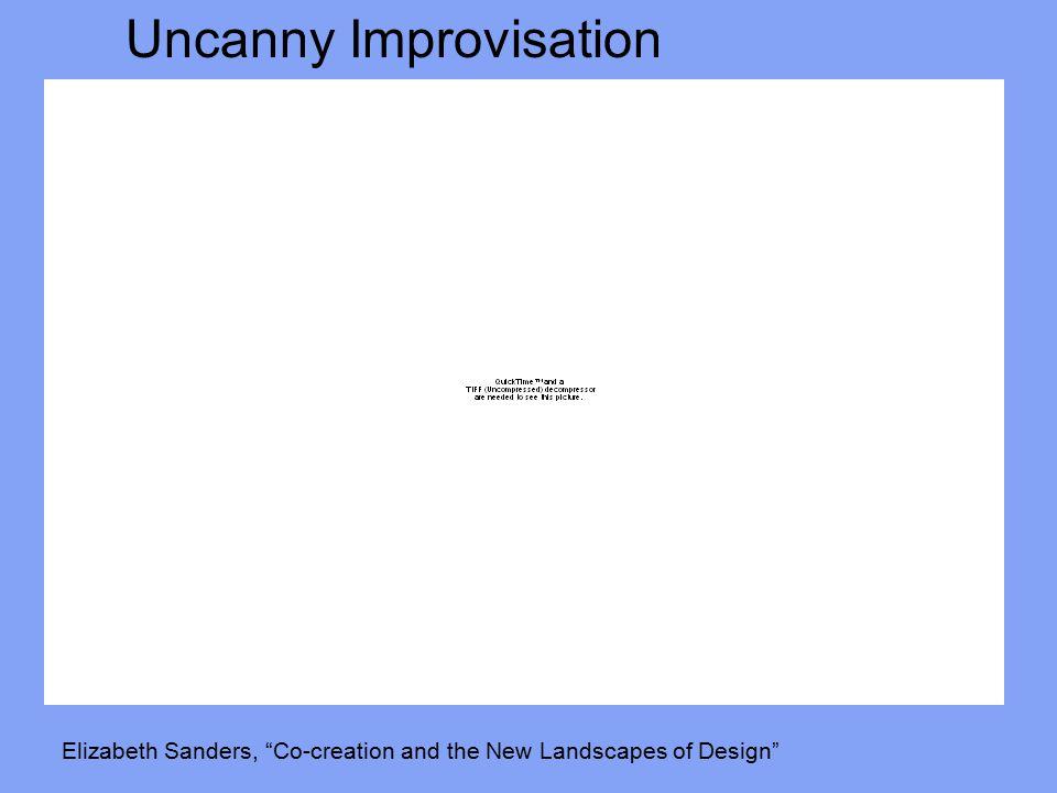 Uncanny Improvisation Elizabeth Sanders, Co-creation and the New Landscapes of Design