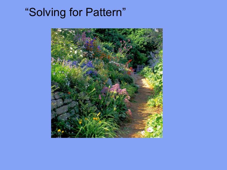 Solving for Pattern