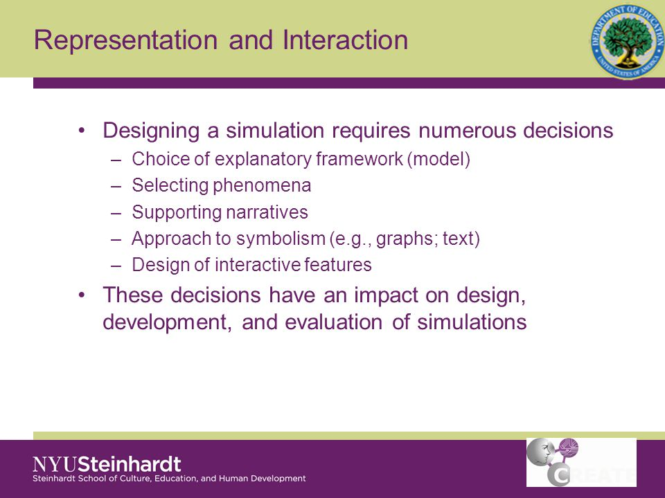 Representation and Interaction The challenge of representations Designing interactivity