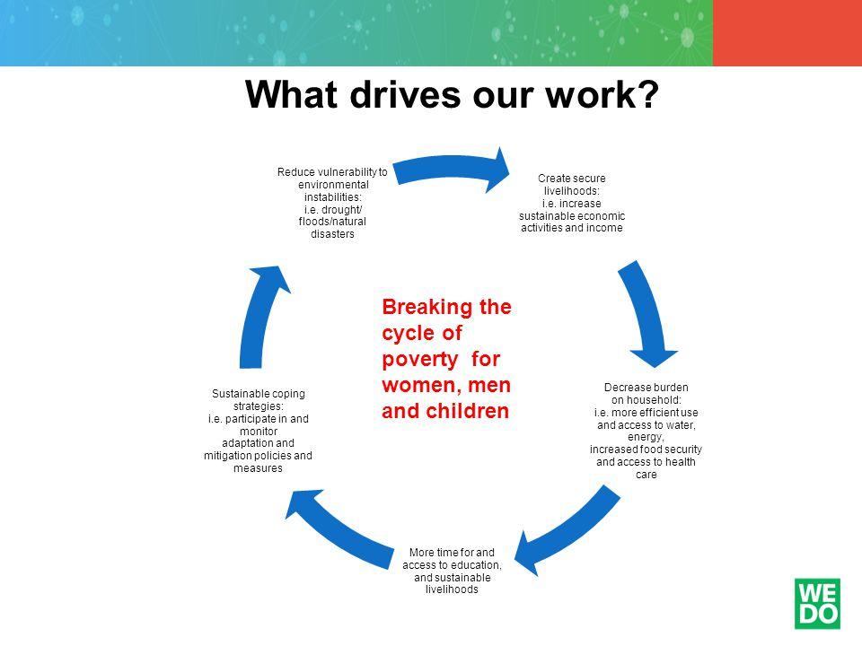 Create secure livelihoods: i.e.