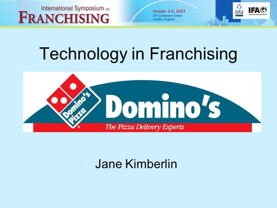 Technology in Franchising Jane Kimberlin