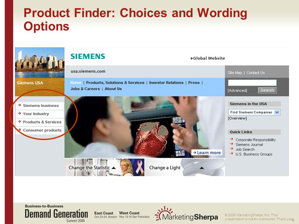 6 More data on this topic available from:: © 2006 MarketingSherpa, Inc.