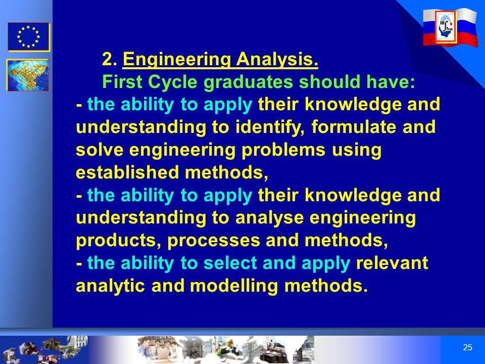 25 2. Engineering Analysis.
