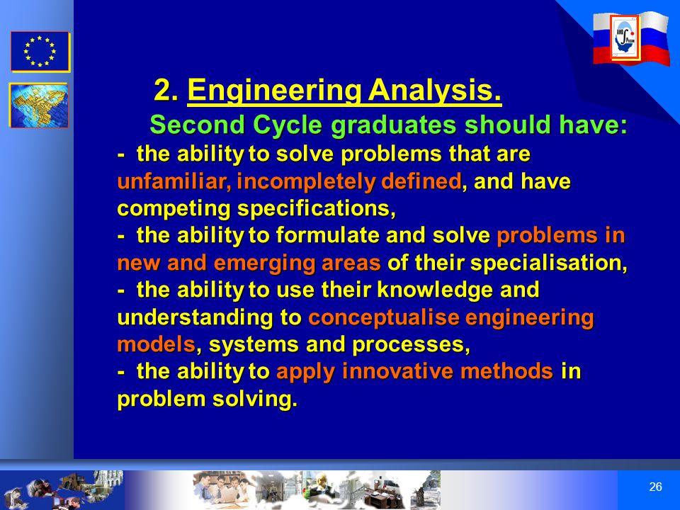 26 2. 2. Engineering Analysis.