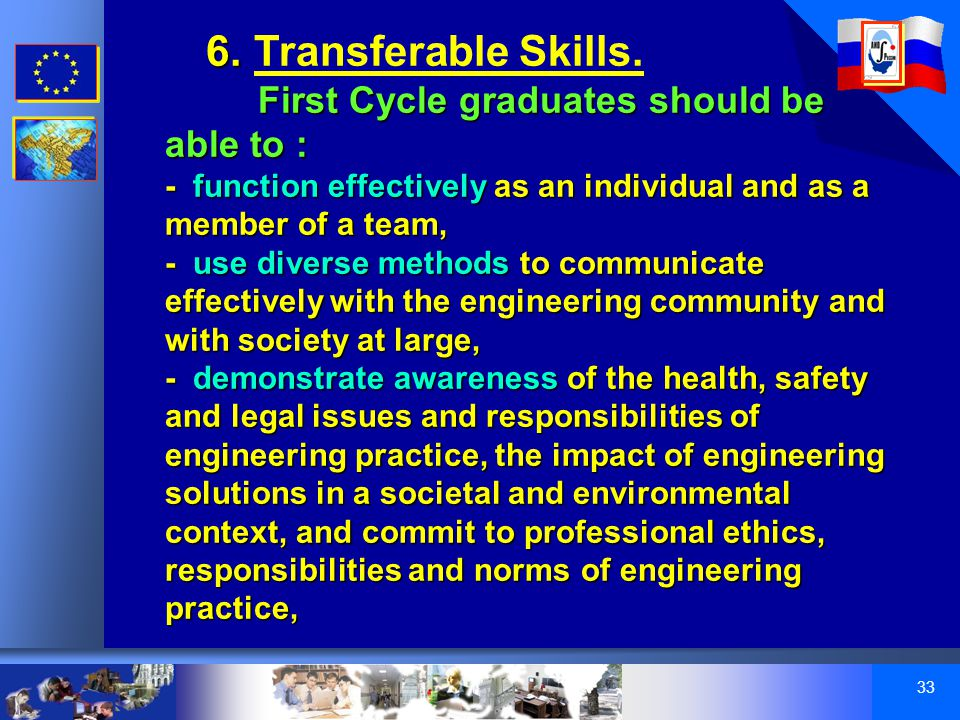 33 6. 6. Transferable Skills.