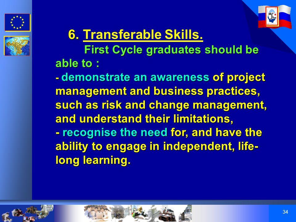 34 6. 6. Transferable Skills.