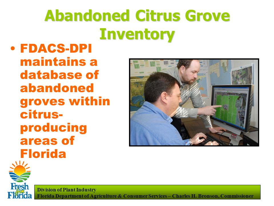 Division of Plant Industry Florida Department of Agriculture & Consumer Services – Charles H.