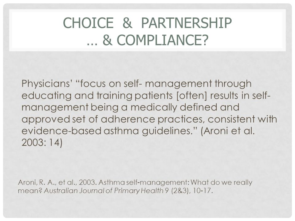 CHOICE & PARTNERSHIP … & COMPLIANCE.