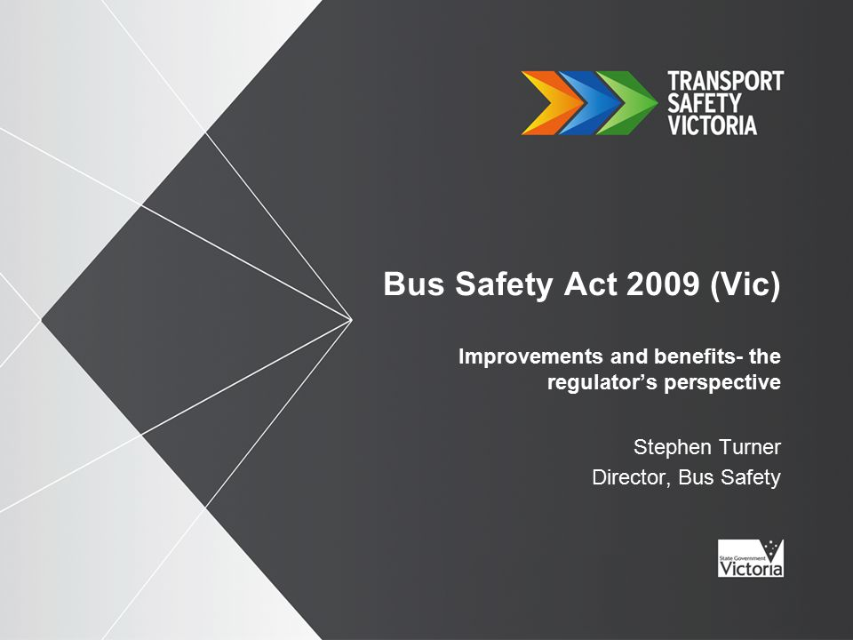 2 The predecessor of the Bus Safety Act 2009 (Vic) (BSA) was the Public Transport Competition Act 1995 (PTCA).